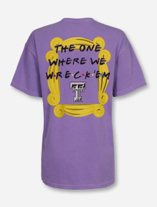 "Texas Tech ""The One Where We Wreck 'Em"" Violet T-Shirt"