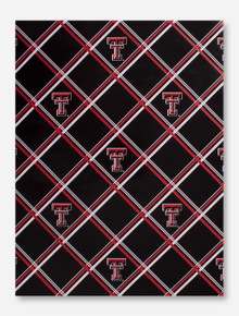 Texas Tech Plaid Double T Wrapping Paper