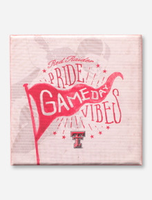 Red Raider Pride Gameday Vibes Shelf Block Canvas