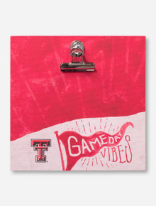 Texas Tech Red Raiders Gameday Vibes Red & White  Clip Frame