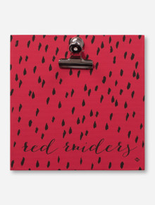 Dry Brush Mark Red Raiders Script Red Clip Frame