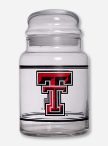 Texas Tech Full Color Double T Glass Canister