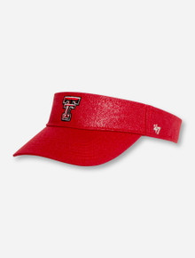 "47 Brand Texas Tech ""Gleam"" Women's Red Visor"