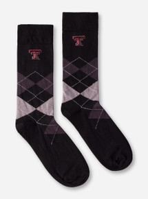 Texas Tech Double T Argyle Crew Socks