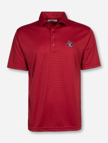 "Texas Tech ""Clubhouse"" Red & Black Striped Polo"