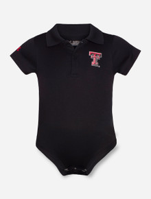 Under Armour Texas Tech Double T INFANT Black Polo Onesie