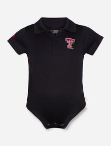 Under Armour Texas Tech Double T INFANT Black Polo Onesie
