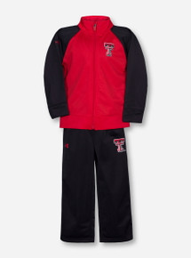 Under Armour Texas Tech Red and Black KIDS Track Suit Set