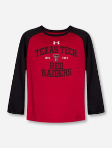Under Armour Texas Tech Red Raiders KIDS Red & Black Long Sleeve