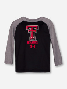 "Under Armour Texas Tech ""Apollo"" Black & Grey INFANT Long Sleeve"