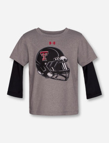 "Under Armour Texas Tech ""Mega Rush"" Grey & Black INFANT Long Sleeve"