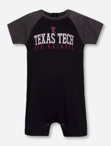 "Garb 2017 Texas Tech ""Dale"" INFANT Black & Heather Charcoal Onesie"