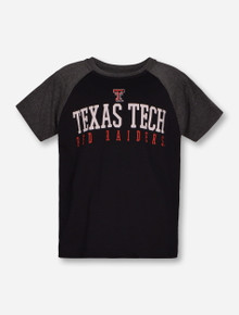 "Garb 2017 Texas Tech ""Dale"" TODDLER Black & Heather Charcoal T-Shirt"