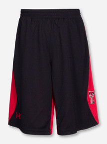 Under Armour Texas Tech Double T Black & Red YOUTH Basketball Shorts