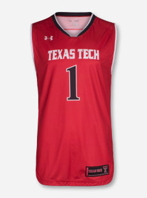 Under Armour Texas Tech #1 Red Basketball Jersey
