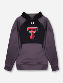 Under Armour Texas Tech Double T YOUTH Black & Charcoal Hoodie