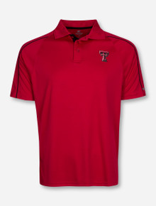 Arena Texas Tech Red Raiders Double T Tonal Stripe Polo
