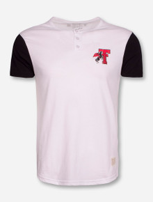 Retro Brand Texas Tech Color Block Button Front T-Shirt