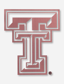 Texas Tech Red Raiders Rose Gold Double T Decal