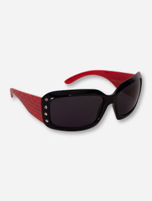 Texas Tech Red Raiders Rhinestone Double T Wrap Around Sunglasses