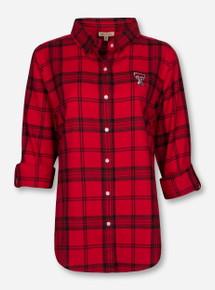 """Texas Tech Red Raiders UG Apparel """"Boyfriend"""" Plaid Shirt"""