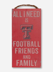 "Texas Tech Red Raiders ""All I Need"" Wall Art"