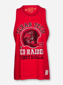 "Texas Tech Red Raiders ""Rearing Rider Helmet"" Muscle Tank Top"