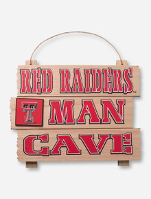 "Texas Tech ""Red Raiders Man Cave"" Wall Sign"