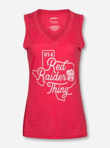 "Texas Tech Red Raiders Pressbox ""It's Red Raider Thing"" Tank Top"
