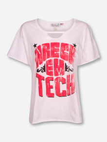 Texas Tech Red Raiders Wreck 'Em Tech Keyhole Cut-Out Girly Tee