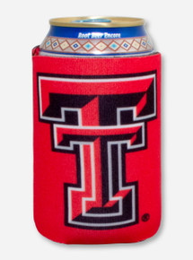 Texas Tech Double T on Red Koozie
