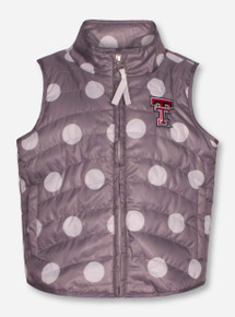 "Garb Texas Tech Red Raiders ""Alexandra"" TODDLER Polka Dot Vest"