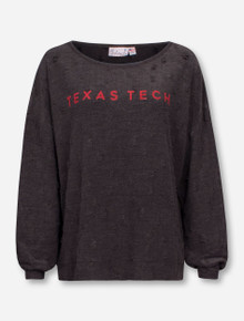 Livy Lu Texas Tech Red Raiders Shredded Sweatshirt