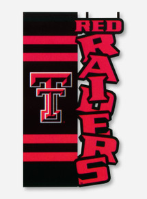 "Texas Tech Double T Raiders on Black & Red 12"" x 18"" Flag"