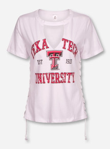 ZooZatz Texas Tech Red Raiders Cutout with Lace Up Side Tee