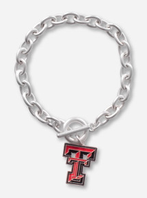 Texas Tech Red Raiders Enamel Full Color Double T Toggle Bracelet