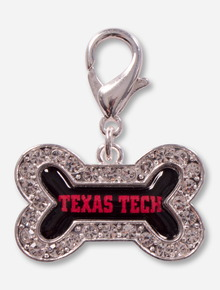 Texas Tech Red Raiders Crystal Dog Bone Pet Collar Charm
