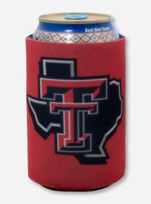 Texas Tech Lone Star Pride Logo on Red Koozie