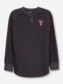 "Texas Tech Red Raiders Garb ""Hunter"" YOUTH Long Sleeve Henley Tee"