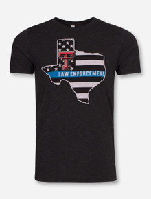 Texas Tech Blue Line Law Enforcement T-Shirt