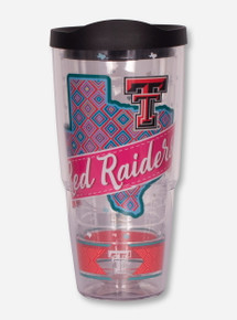 "Tervis Texas Tech Red Raiders ""Pink Ribbon State"" 24oz Travel Tumbler"