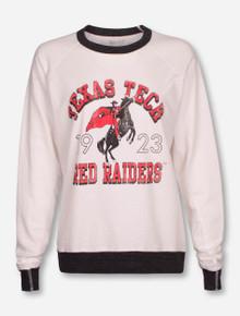"Retro Brand Texas Tech Red Raiders ""Rearing Rider Arch"" Sweatshirt"