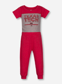 "Wes & Willy Texas Tech Red Raiders ""Cherry Blend"" INFANT Onesie & Pants Set"