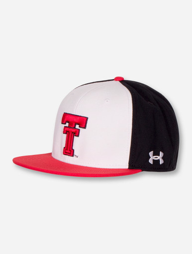 pretty nice c26e1 713f6 ... sale under armour texas tech red raiders performance tri color fitted  cap 0ddc9 2da13
