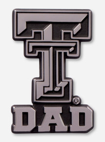 Texas Tech Red Raiders Double T with Dad Car Emblem