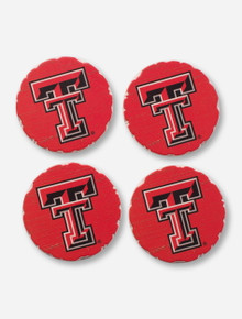 Texas Tech Red Raiders Absorbent Tumbled Stone Coasters