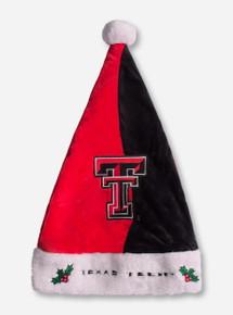 Texas Tech Red Raiders Half Red Half Black Double T Santa Hat
