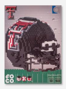 Texas Tech Red Raiders 3D Brick Toy Helmet