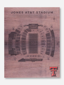Texas Tech Red Raiders Jones Stadium Large Wood Wall Hanging