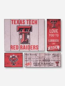 "Texas Tech Red Raiders ""Family Cheer"" Canvas Set"